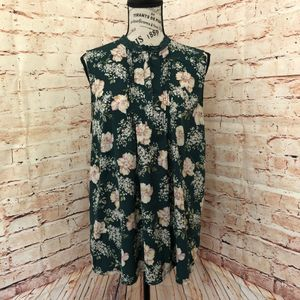 3/$25 A New Day Pleated Floral Blouse - Large
